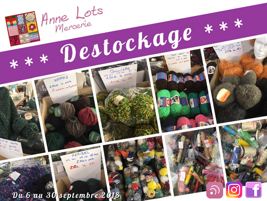 Destockage septembre mercerie annelots