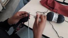Atelier tricot avec la laine Annelots