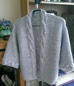 gilet gris en laine lana