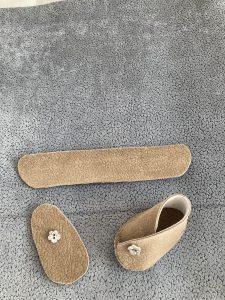 chaussons en suedine